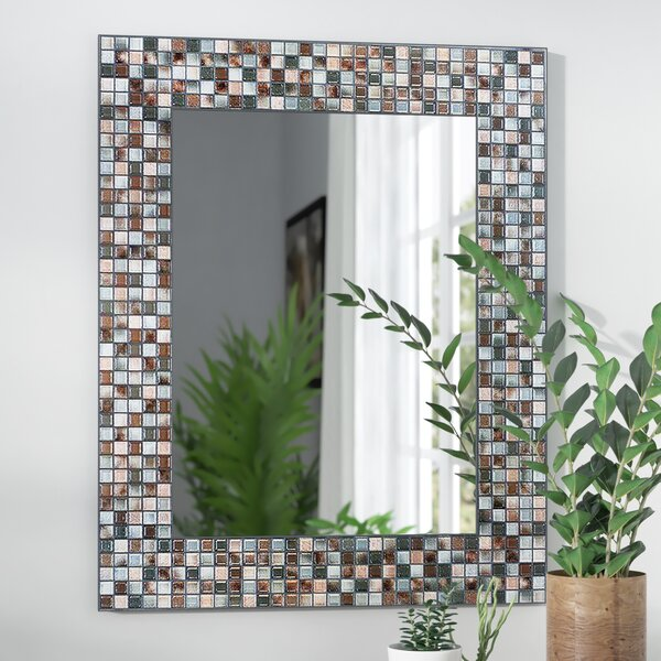 Tillman Mosaic Tile Accent Wall Mirror by World Menagerie