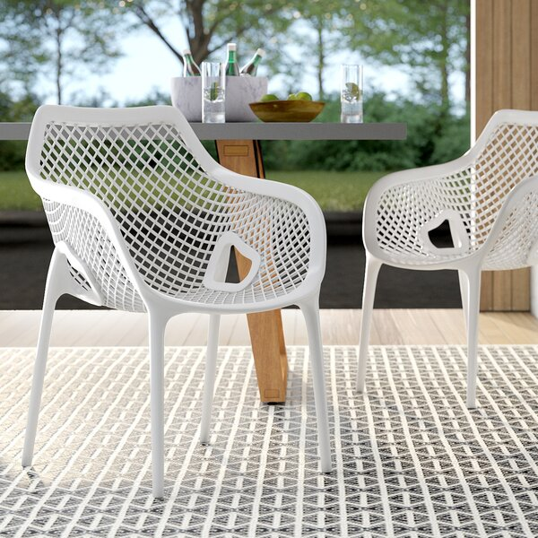 Deines Stacking Patio Dining Chair (Set Of 4) By Mercury Row