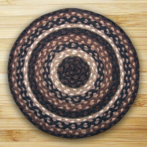 Braided Mocha/Frappuccino Area Rug by Earth Rugs