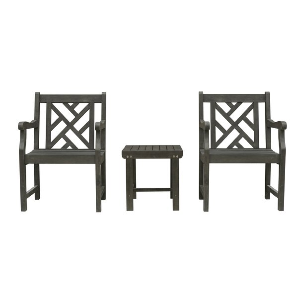 Shelbie Patio Wood 3 Piece Conversation Set by Sol 72 Outdoor
