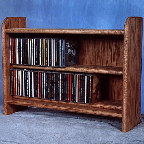Deluxe 110 CD Multimedia Tabletop Storage Rack by Wood Shed