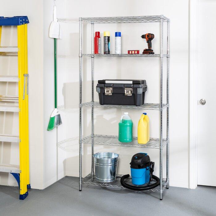 Honey-Can-Do 5-Tier 200-lb. Storage Shelves (Chrome)