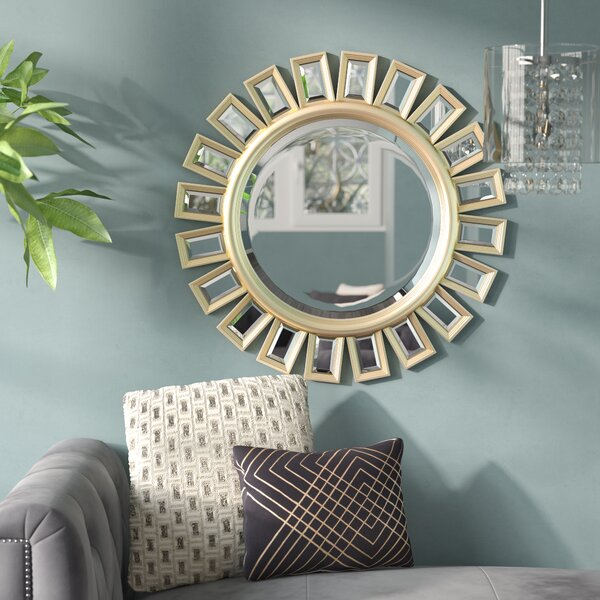 Sunburst Beveled Wall Mirror by Willa Arlo Interiors