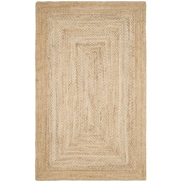 Marie Natural Fiber Hand Hooked Natural Area Rug  by Rosecliff Heights
