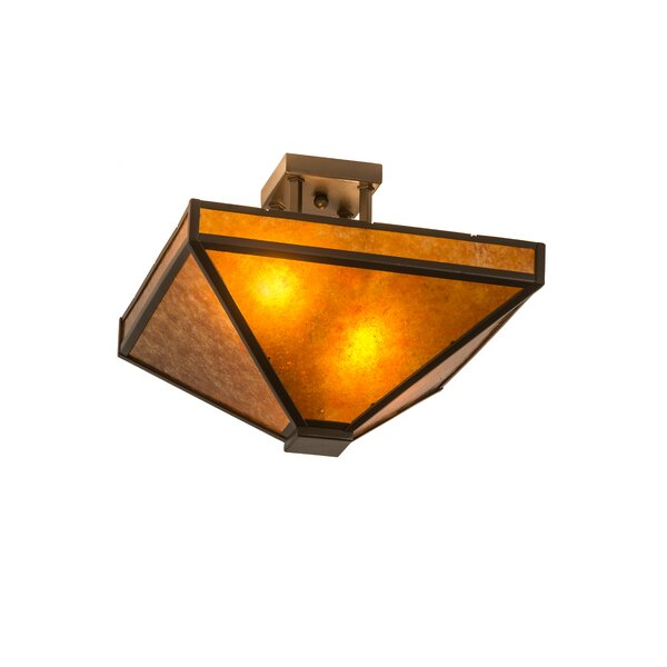 Yeates 2-Light Outdoor Flush Mount by Loon Peak