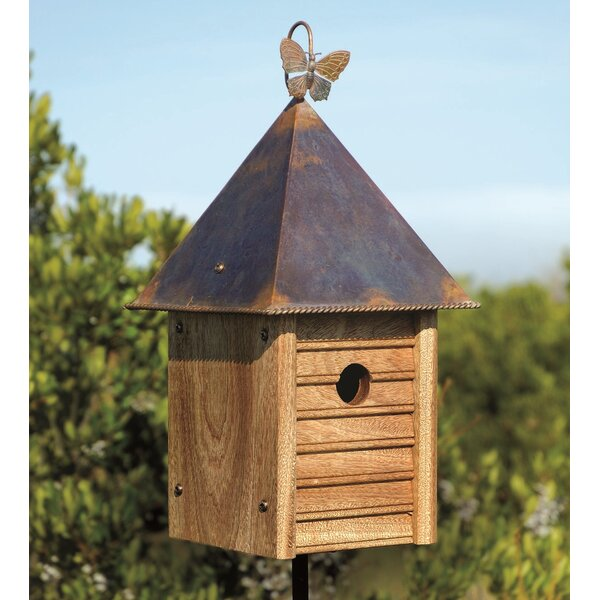 Homestead Solid Mahogany with Copper Roof 16 in x 8 in x 8 in Birdhouse by Heartwood