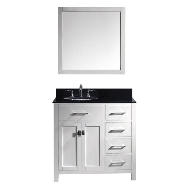 Savitsky 36 Single Bathroom Vanity Set with Mirror by Latitude Run