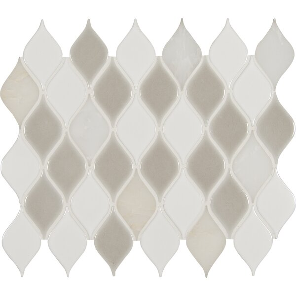 Cresta Blanco Porcelain/Stone Mosaic Tile in Gray by MSI