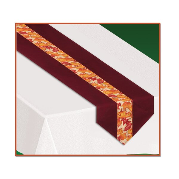 Fall/Thanksgiving Autumn Leaves Fabric Table Runner by The Holiday Aisle