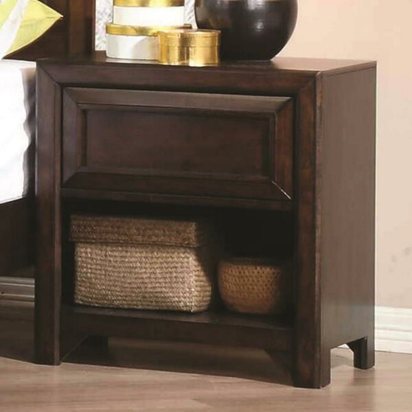Roark Wooden 1 Drawer Nightstand by Union Rustic