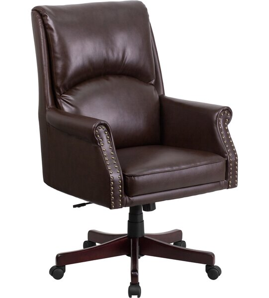 Worthley High-Back Executive Chair by Symple Stuff