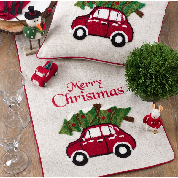Bond Holiday with Car Design Table Runner by The Holiday Aisle