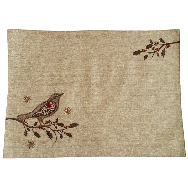 Bird on Twig Emboridery Placemat by Xia Home Fashions