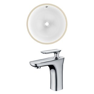 Find the perfect Ceramic Circular Undermount Bathroom Sink with Faucet and Overflow By American Imaginations