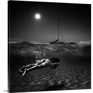 Woman Swimming Right Below the Water's Surface by Peter Majkut Photographic Print on Canvas by Great Big Canvas