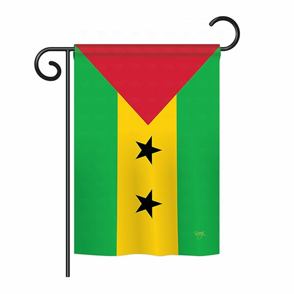 Sao Tome and Principe 2-Sided Vertical Flag by Breeze Decor