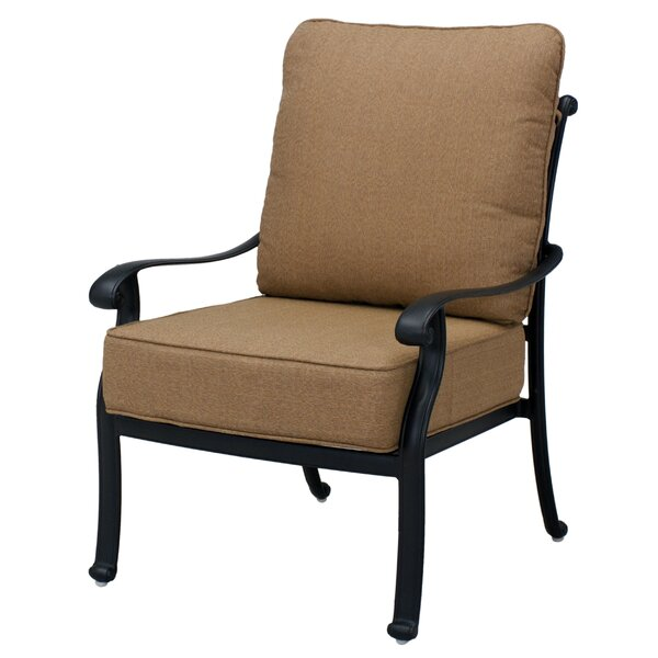 Melchior Patio Chair with Cushions (Set of 2) by Astoria Grand