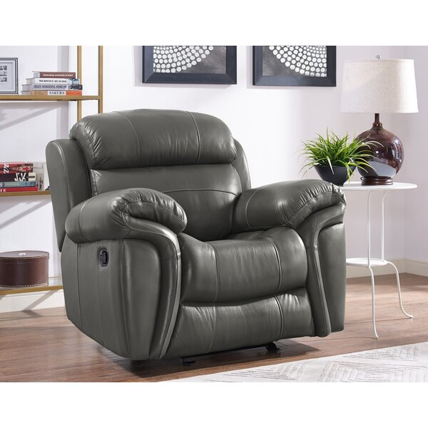 Hatzieleftheriadis Leather Manual Glider Recliner [Red Barrel Studio]