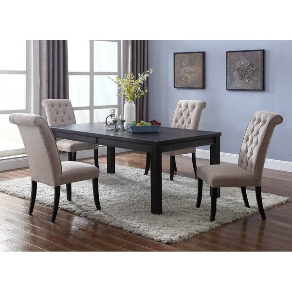 Sibert 5 Piece Solid Wood Dining Set by Charlton Home