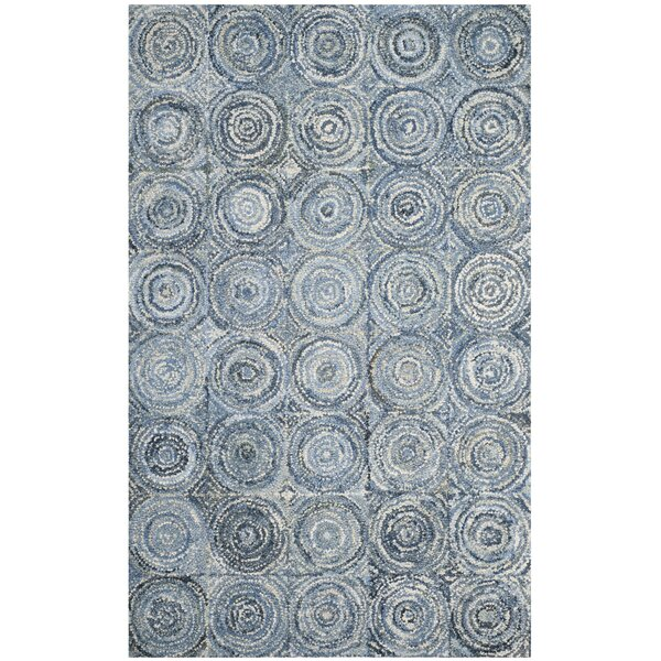 Philip Hand Tufted Cotton Blue Area Rug by World Menagerie