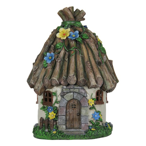 Solar Twig Roof House Fairy Garden by Exhart