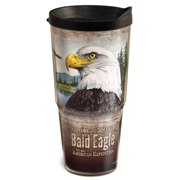 Bald Eagle Wildlife 2-Tier 24 oz. Plastic Travel Tumbler by American Expedition