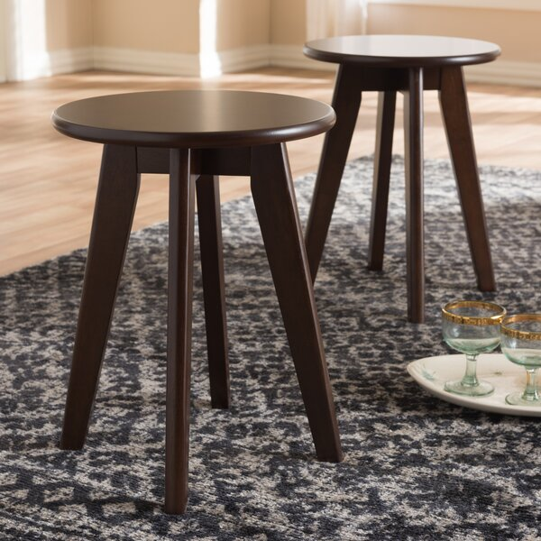 Ivywood Accent Stool (Set of 2) by Charlton Home
