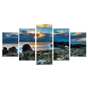 'Sun Rise' 5 Piece Vertical Photographic Print on Wrapped Canvas Set by Ebern Designs