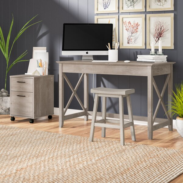 Oridatown Writing Desk with 2 Drawer Mobile Pedestal by Beachcrest Home