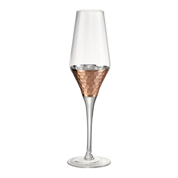 Norwich Hammer Champagne Flute (Set of 4) by Mint Pantry