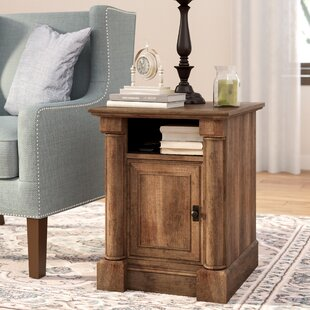 Warrington End Table with Storage Three Posts