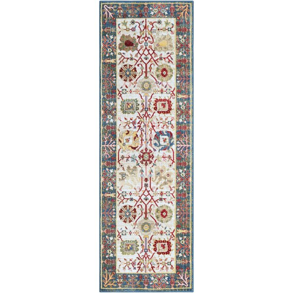 Napa Navy/White Floral Area Rug by Bloomsbury Market