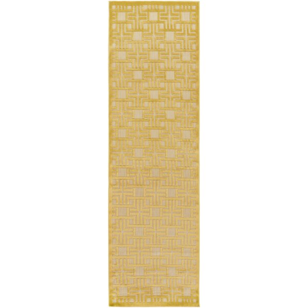 Carver Mustard/Khaki Indoor/Outdoor Area Rug by Charlton Home