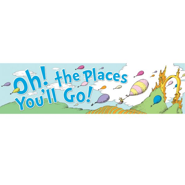 Dr Seuss Oh The Places Balloons Poster by Eureka Classroom