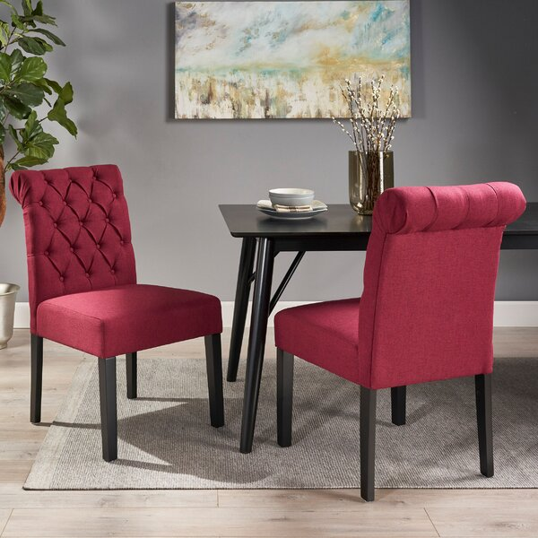 Perales Upholstered Dining Chair (Set of 2) by Canora Grey Canora Grey