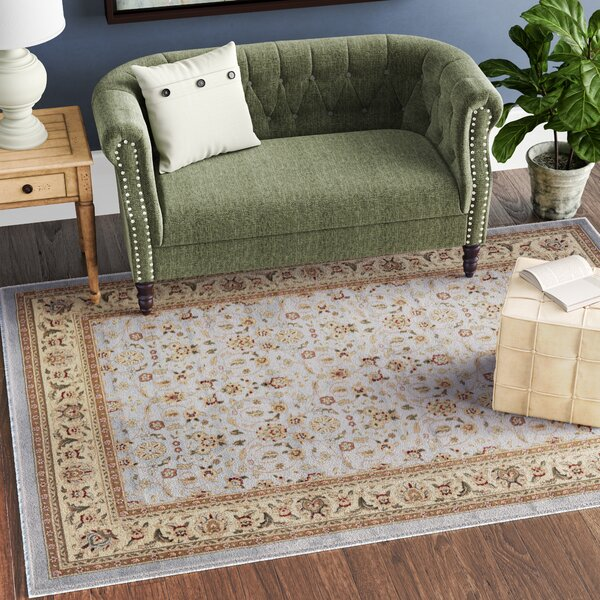 Ottis Light Blue/Ivory Area Rug by Charlton Home