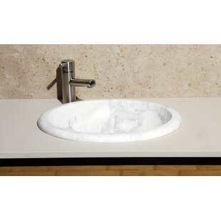 Reviews Volakas Stone Oval Drop-In Bathroom Sink ByAllstone Group