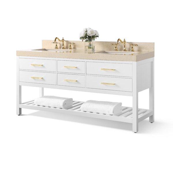 Jauss 72 Double Bathroom Vanity Set by Mercer41