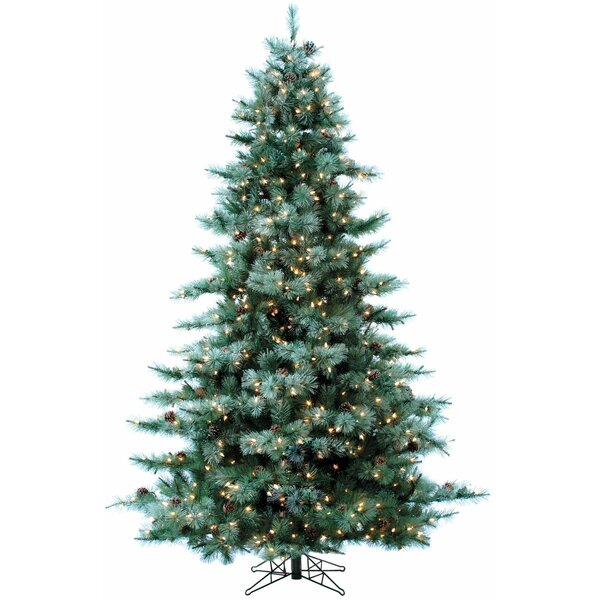 Glistening 90 Green Pine Artificial Christmas Tree with 850 Clear/White Lights by The Holiday Aisle