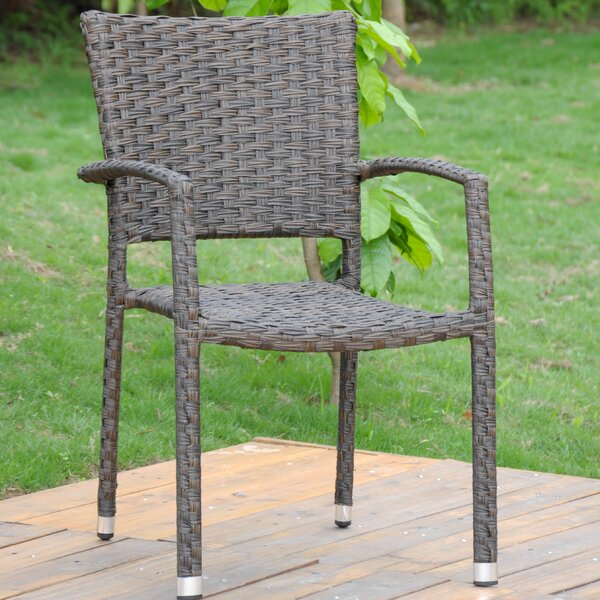 Douthit Stacking Patio Dining Chair (Set of 2) by Ebern Designs Ebern Designs