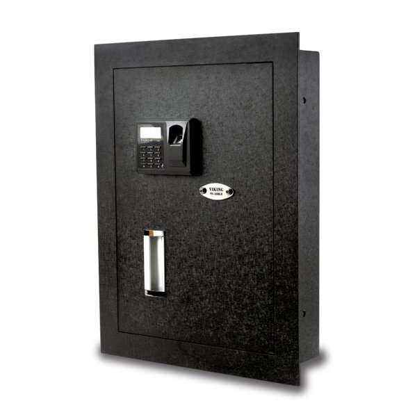 Viking Security Safe Biometric Lock Hidden Wall Safe by Viking Security Safe