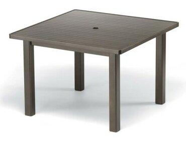 Aluminum Slat 42 Square Bar Table by Telescope Casual