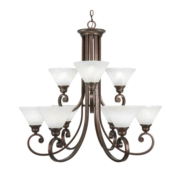Babin 9-Light Shaded Tiered Chandelier by Fleur De Lis Living Fleur De Lis Living