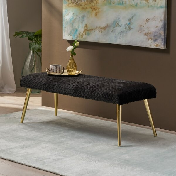Ogallala Patterned Metal Bench by Everly Quinn