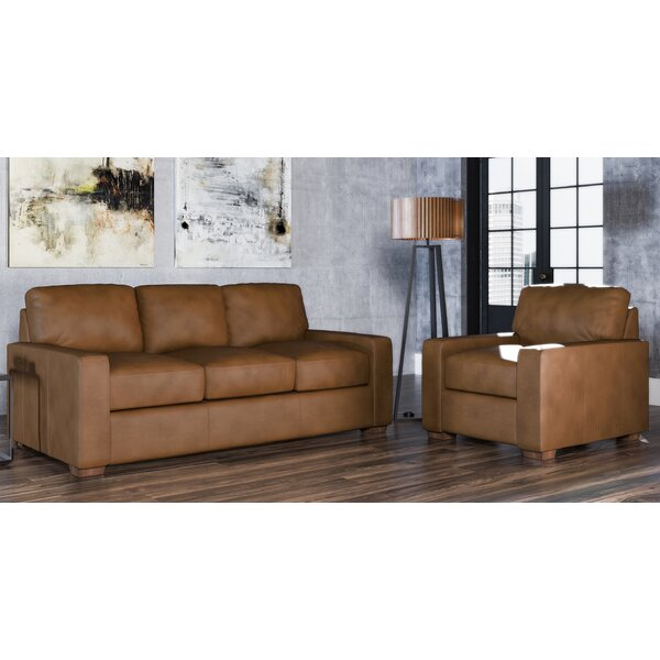 Review Blanca 2 Piece Leather Living Room Set