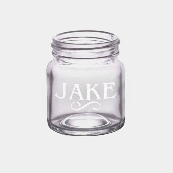 Personalized 2 oz. Mason jar by Monogramonline Inc.
