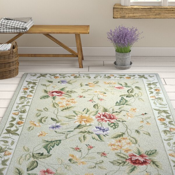 Andillac Hand-Hooked Sage Area Rug by August Grove