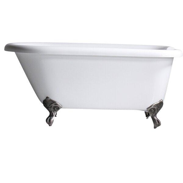 Hotel Acrylic Classic 59 x 32 Freestanding Soaking Bathtub by Baths of Distinction