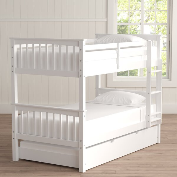 Esmeralda Twin Over Twin Bunk Bed With Trundle By Harriet Bee by Harriet Bee 2020 Sale