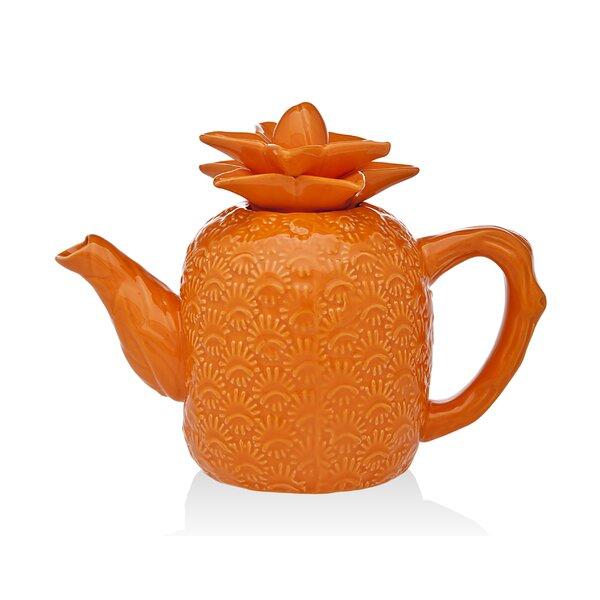 Pineapple 24 -qt. Ceramic Teapot by Godinger Silver Art Co